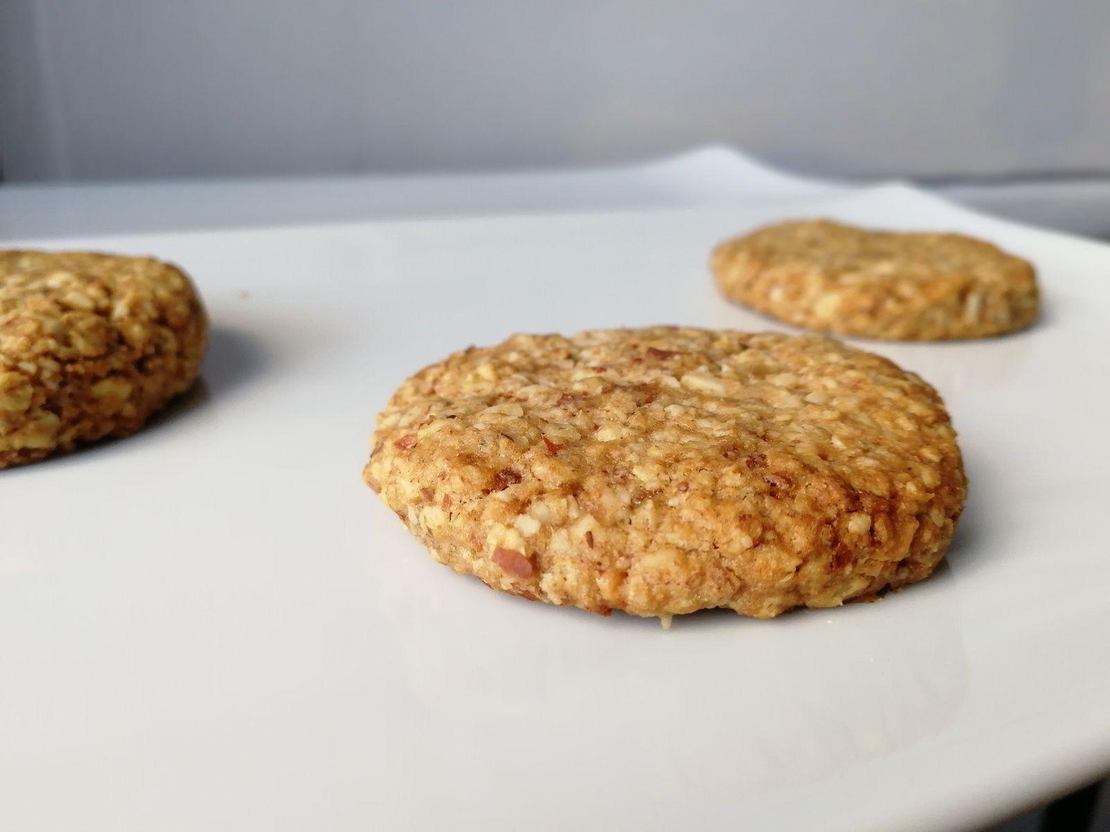 Biscuits aux amandes et flocons d'avoine