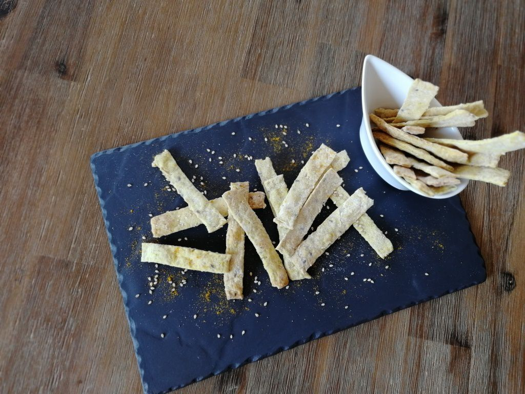Crackers curry / sésame