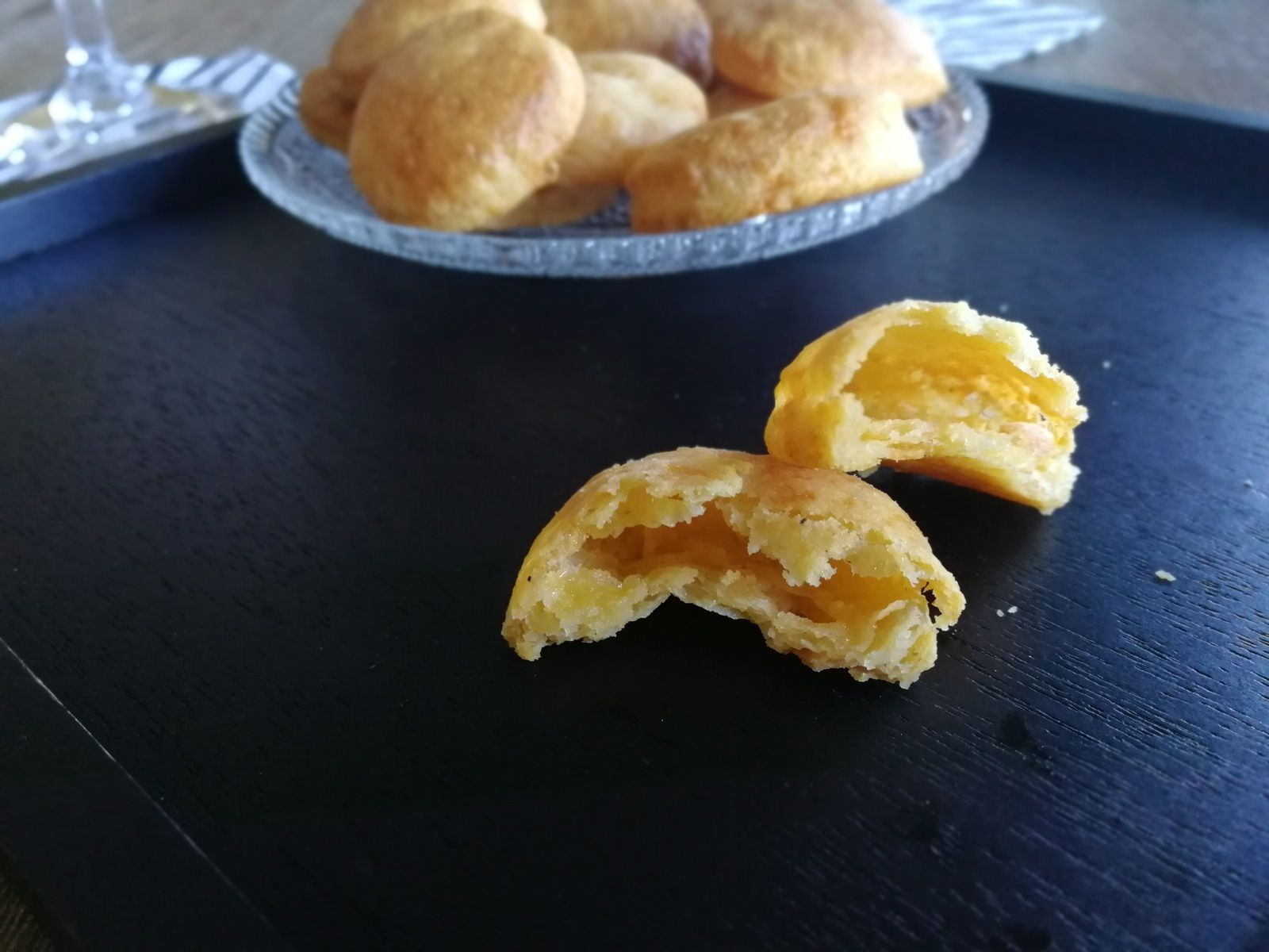 Biscuits apéro cheddar / ail