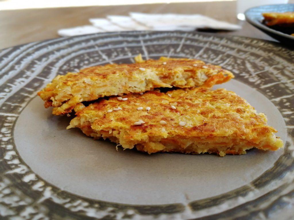Galettes lentilles corail et patate douce