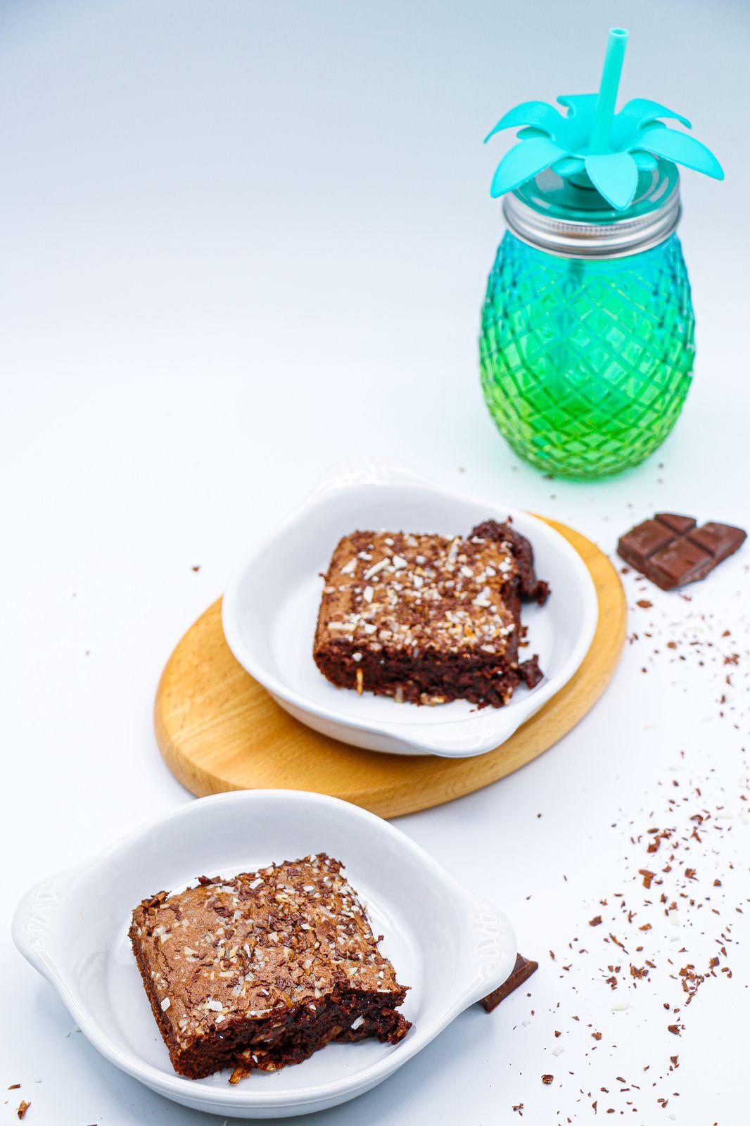 Gâteau fondant au chocolat & coco