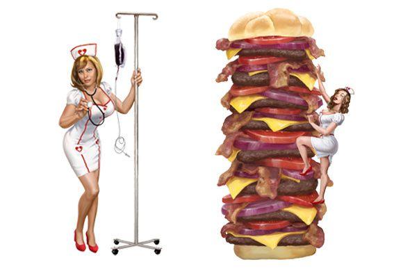 Heart Attack Grill (Las Vegas) : burger le plus calorique du monde, infirmières sexy et fessées au menu !