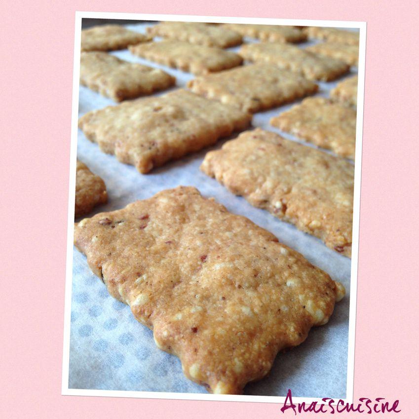 Crackers apéro maison au cheddar