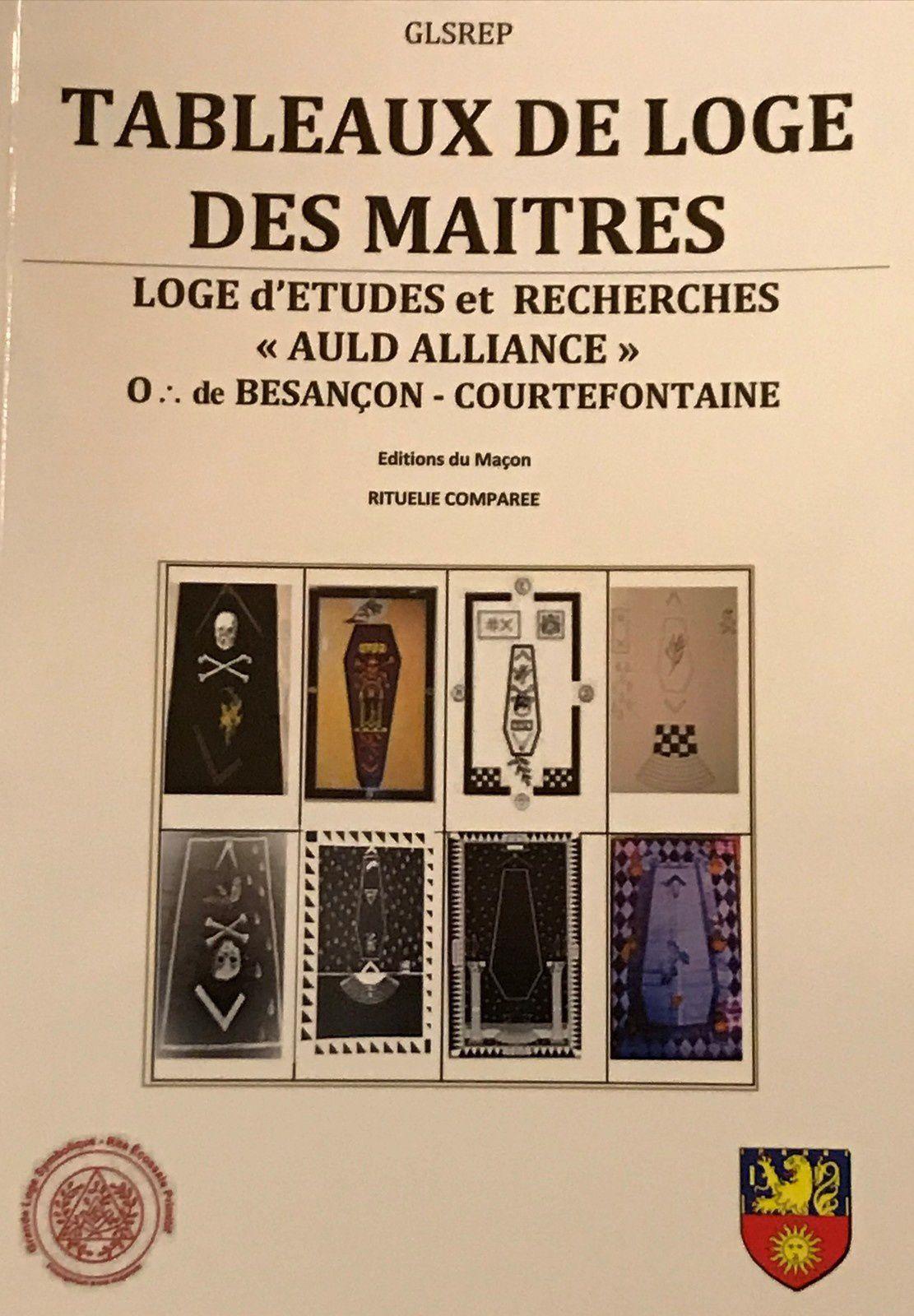 Rituelie comparée sur 8 Tableaux de loge des Maîtres