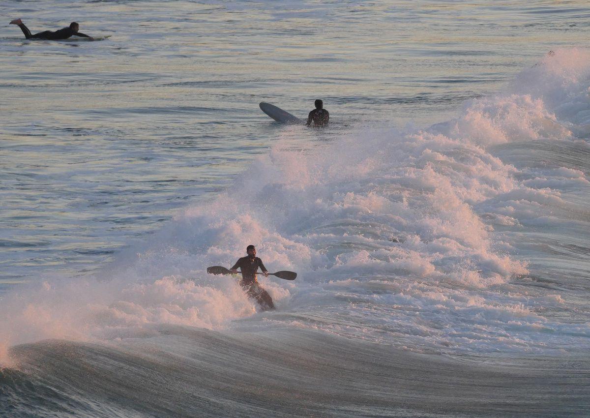surf sur la côte des Basques