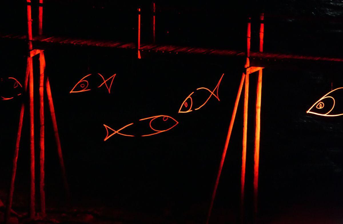 illumination des pêcheries à Saint Brévin les Pins