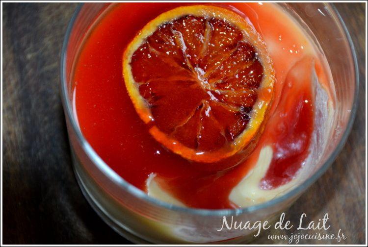 Panna Cotta à l'Orange Sanguine et sirop d'orange