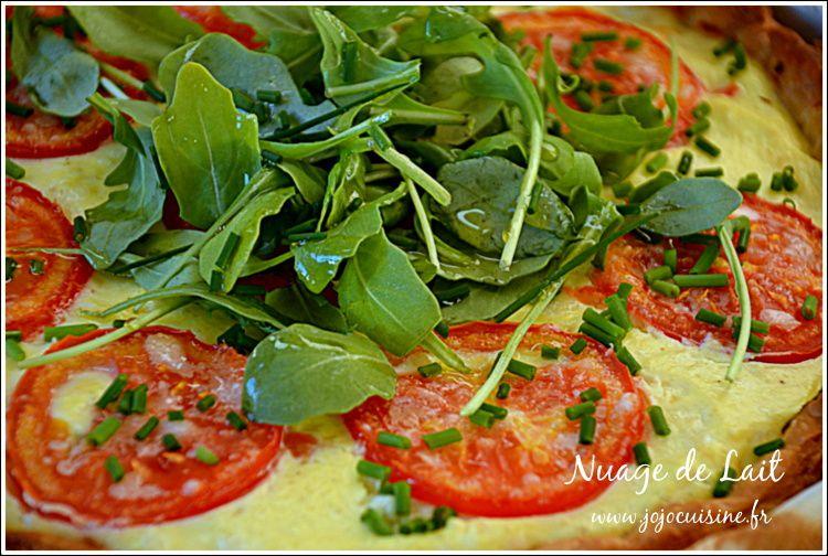 Tarte Ricotta Parmesan Tomate et Roquette
