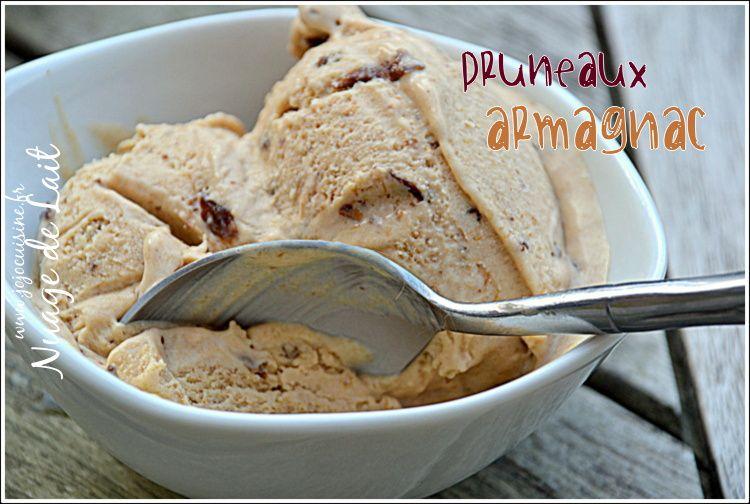 Crème Glacée Pruneaux Armagnac