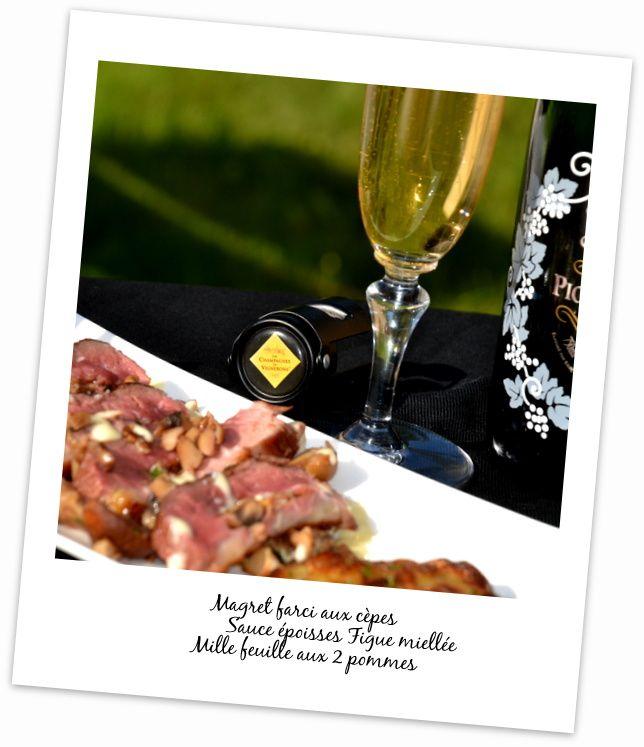 Magret de Canard farci aux Cèpes sauce Epoisses Concours Champagnes de Vignerons et 1 bouteille de champagne à gagner