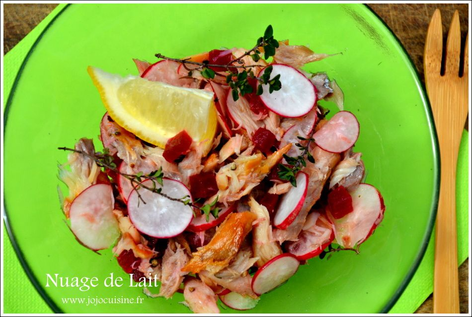 Salade de Maquereaux fumés Laurent Mariotte