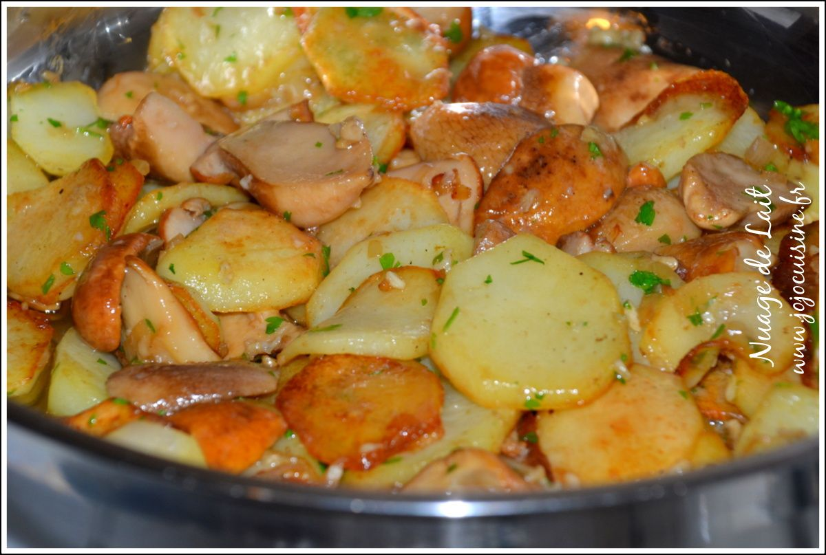 Pommes de terre Salardaises aux Cèpes