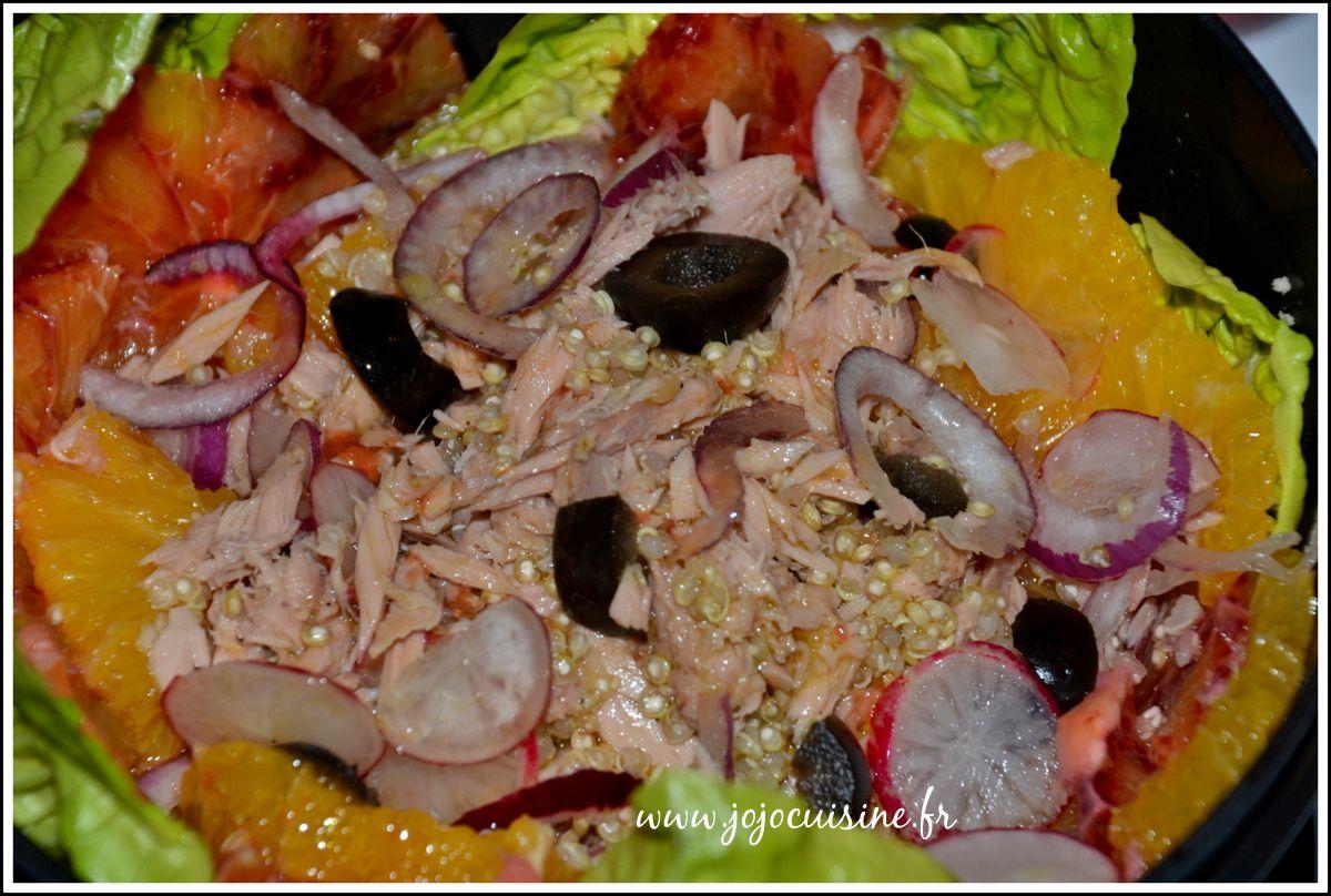 Salade Thon, Quinoa et Oranges Vinaigrette à l'Orange Sanguine; Repas à Emporter + un voyage en Provence à gagner