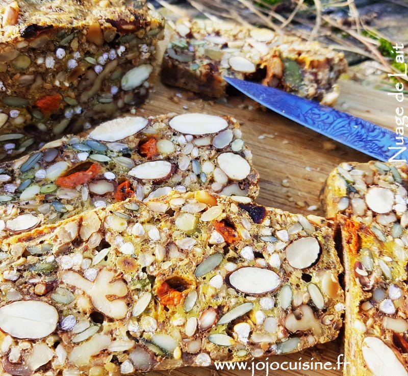 Pain de Graines, Noix, Cranberries et Baies de Goji sans farine