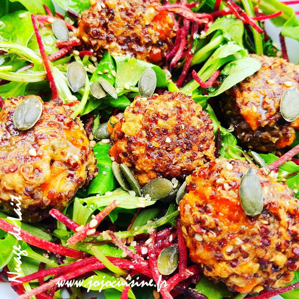 Boulettes de Quinoa à la Carotte ou, que faire avec un reste de quinoa cuit ?