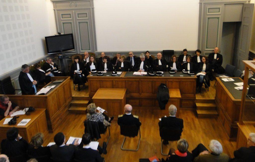 Les magistrats face aux représentants des autorités locales et des corps constitués