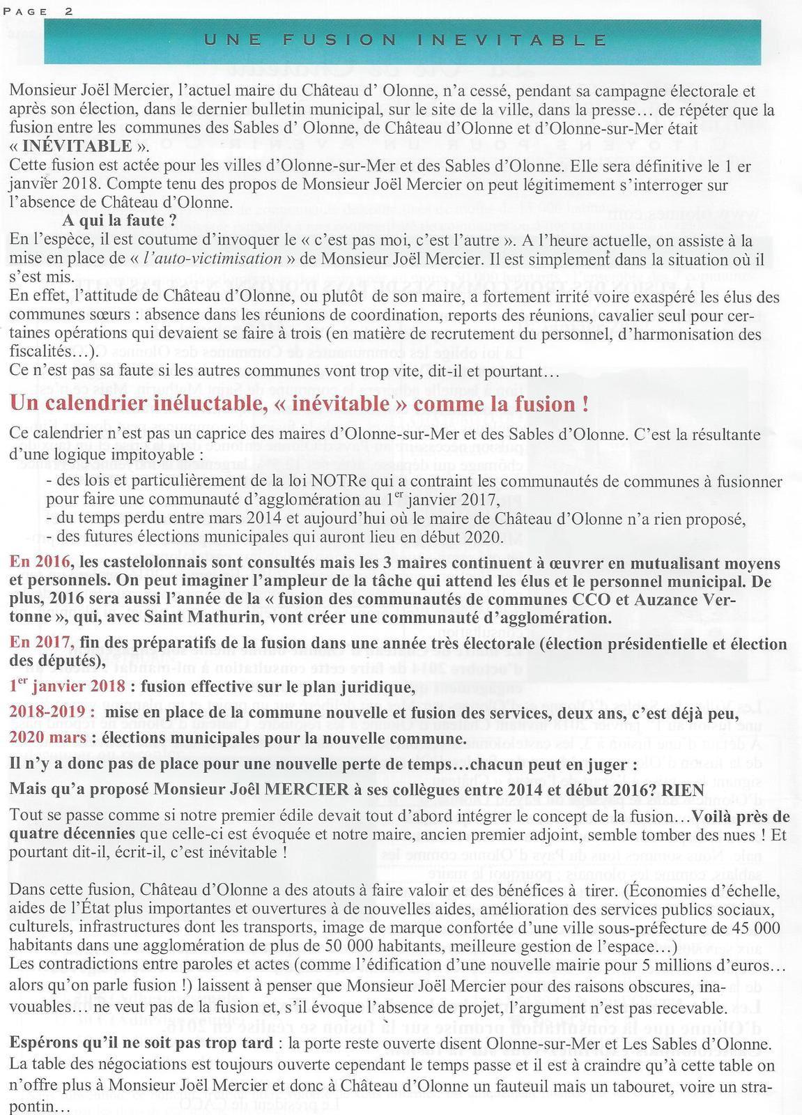 VIE DE CHÂTEAU N° 8 : spécial fusion et pétition