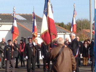 11 NOVEMBRE 1918 / 11 NOVEMBRE 2016 : cérémonie du souvenir à CHÂTEAU D'OLONNE