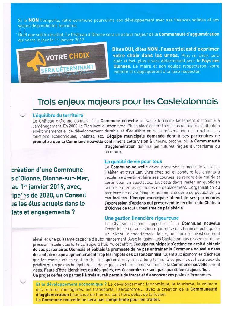 CONSULTATION DES ÉLECTEURS EN VENDÉE À CHÂTEAU D'OLONNE LE  11 DÉCEMBRE 2016
