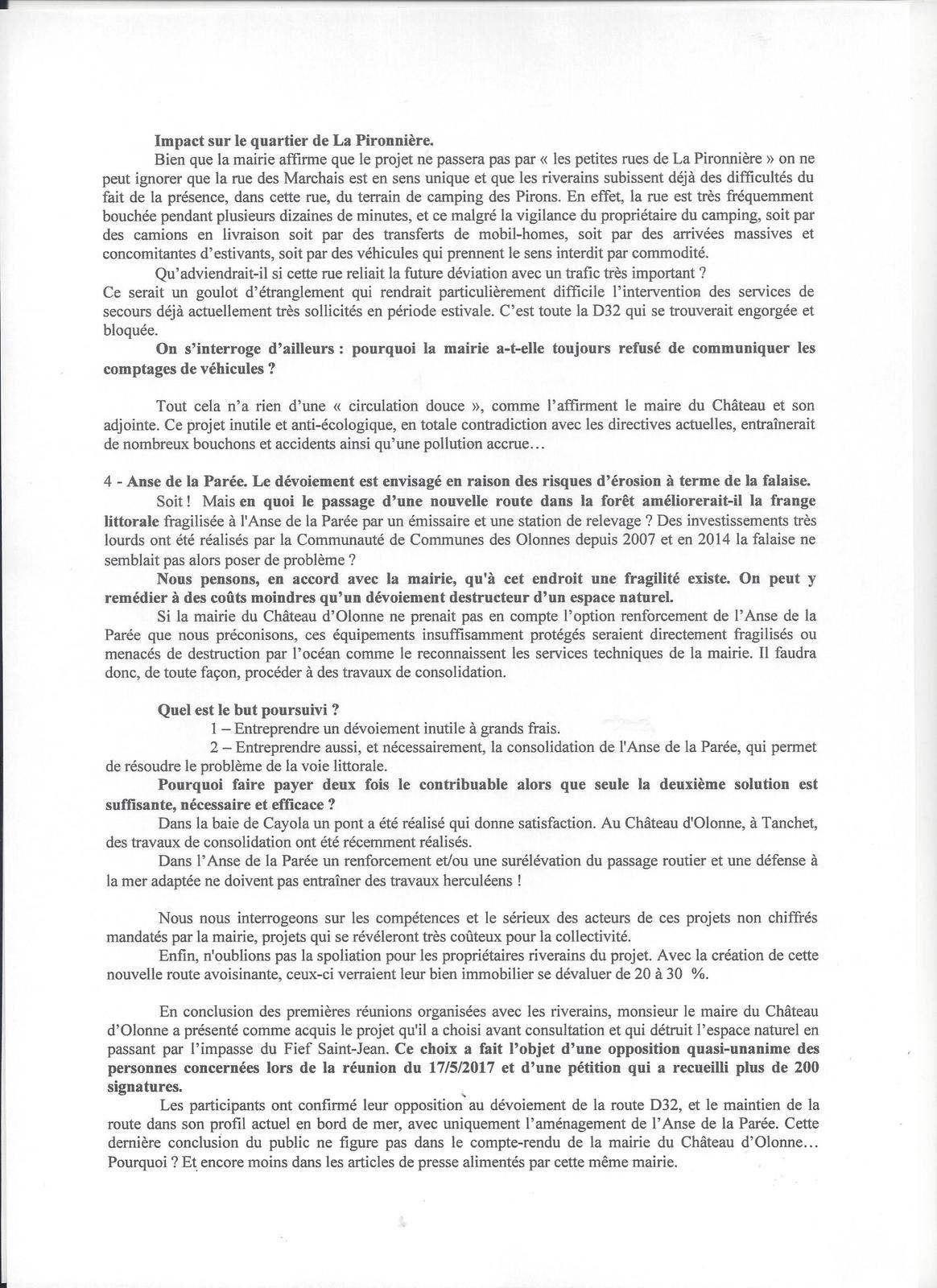 PAYS DES OLONNES : CONTRE UN PROJET CASTELOLONNAIS COÛTEUX, INUTILE ET NÉFASTE