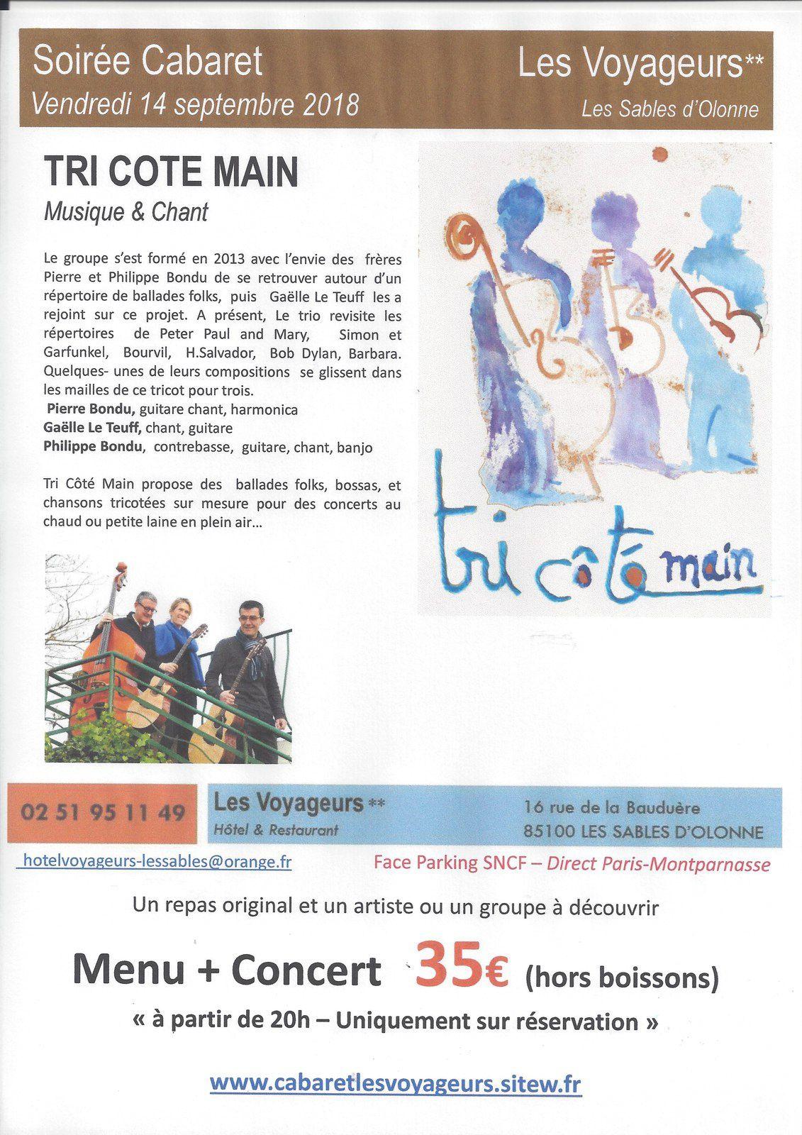 SORTIR AUX SABLES D'OLONNE : DATE À RETENIR RÉSERVATION OUVERTE