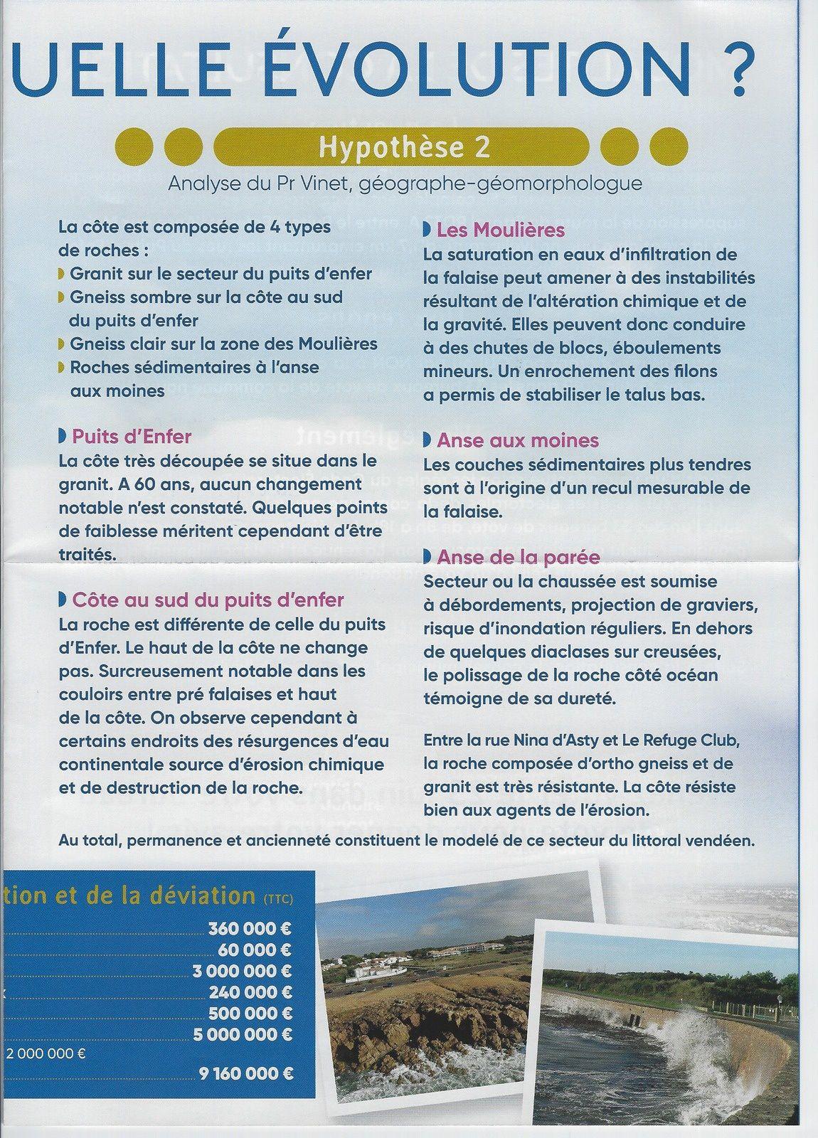 LES SABLES D'OLONNE, ROUTE LITTORALE; LA MAIRIE DIFFUSE UN DOCUMENT EXPLICATIF POUR CE VOTE DU DIMANCHE 23 JUIN 2019