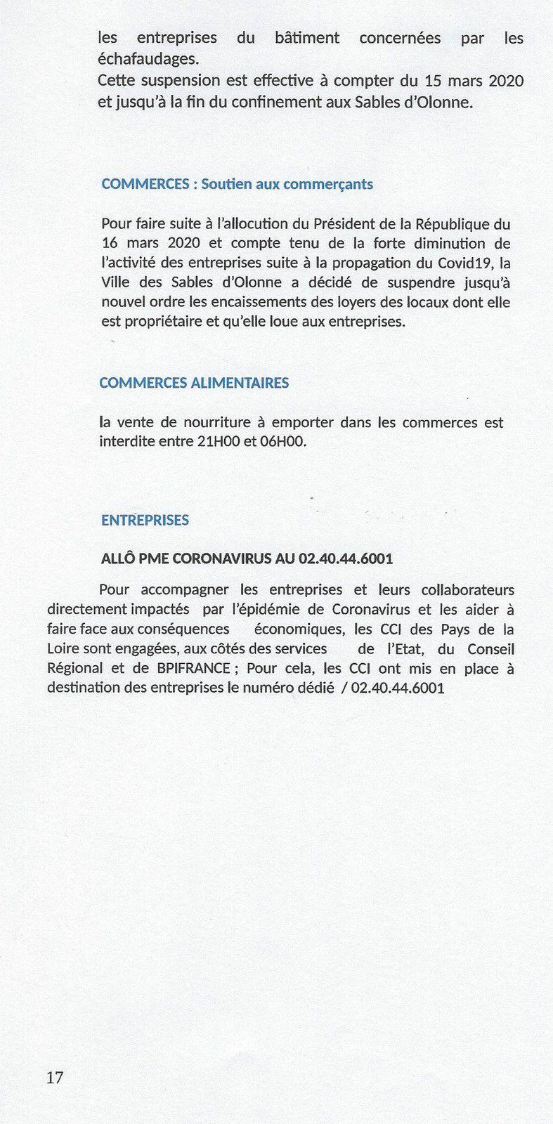 CORONAVIRUS : PLUS D'INFORMATIONS DE LA VILLE DES SABLES, PLUS DE SERVICES ET D'ENTRAIDE, PLUS DE SÉCURITÉ