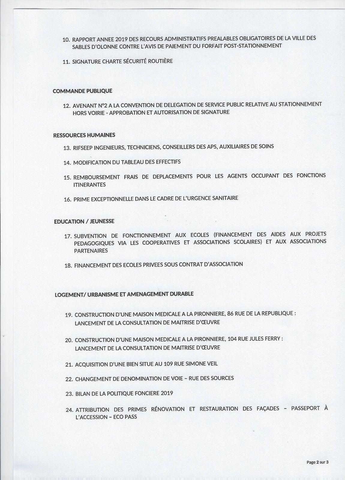 LES SABLES D'OLONNE : conseil municipal quasiment à huis clos LE LUNDI 8 JUIN 2020