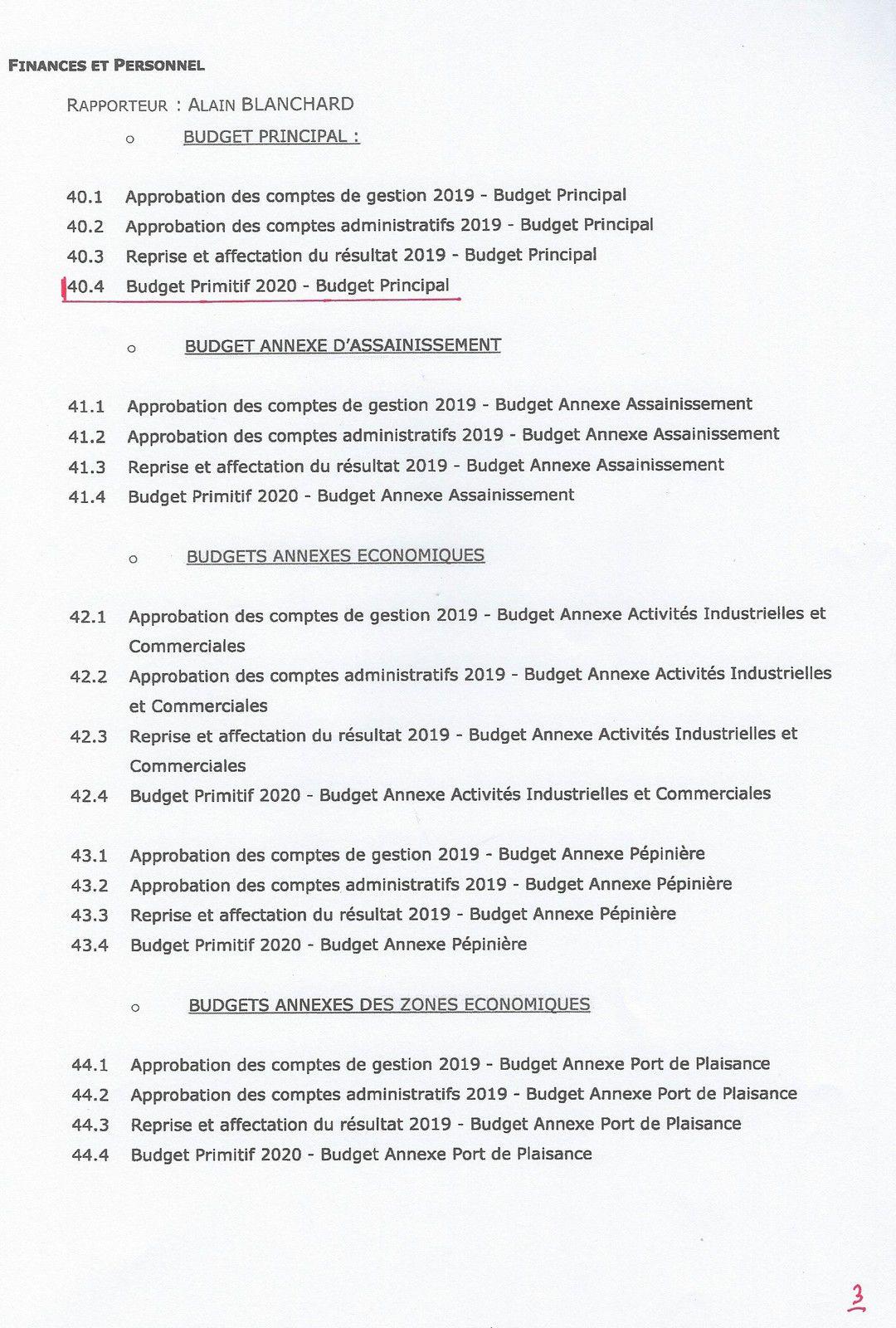 LES SABLES D'OLONNE AGGLOMÉRATION : CONSEIL COMMUNAUTAIRE DU JEUDI 16 JUILLET 2020