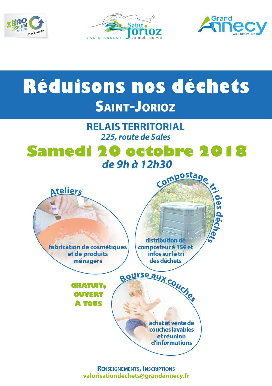 20 octobre SAINT JORIOZ réduisons nos déchets !