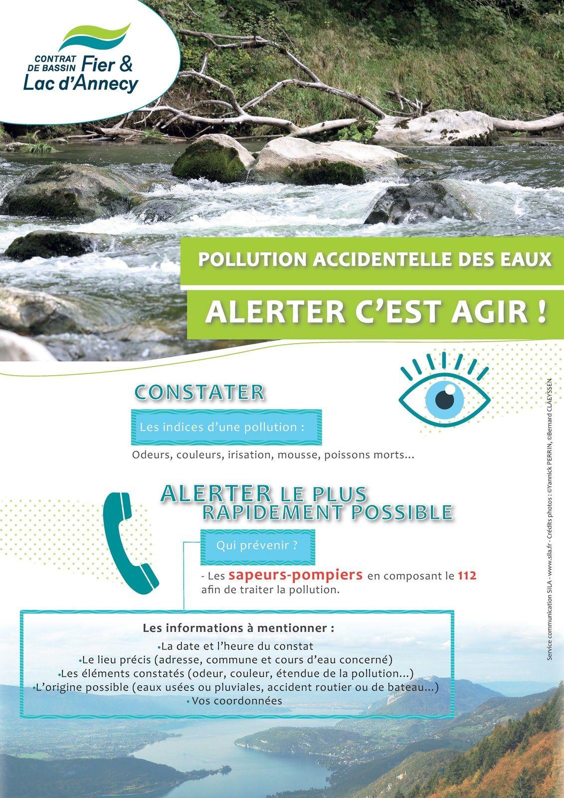 Pollution des eaux, conduite à tenir