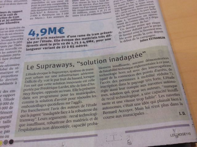 tram = 1 supraways =0