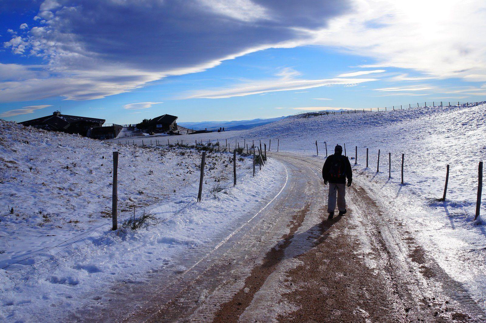Balade hivernale au sommet du Puy de Dôme