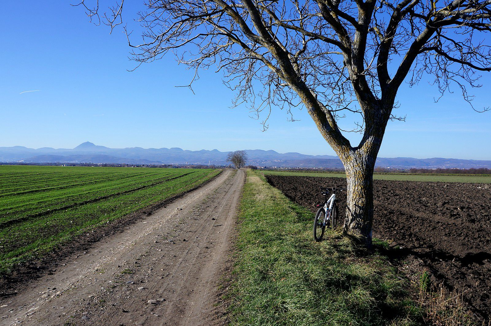 Les berges de l'Allier à VTT