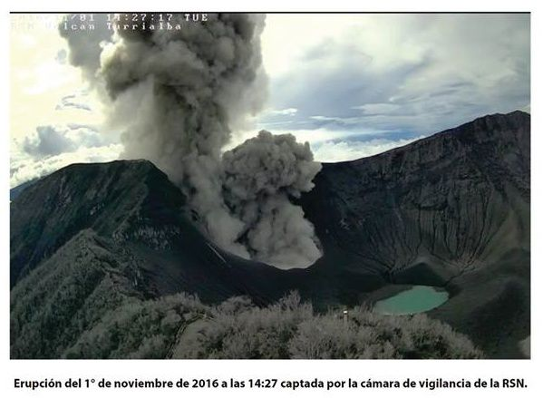Turrialba - 01.011.2016 / 14h27 - webcam cratère RSN