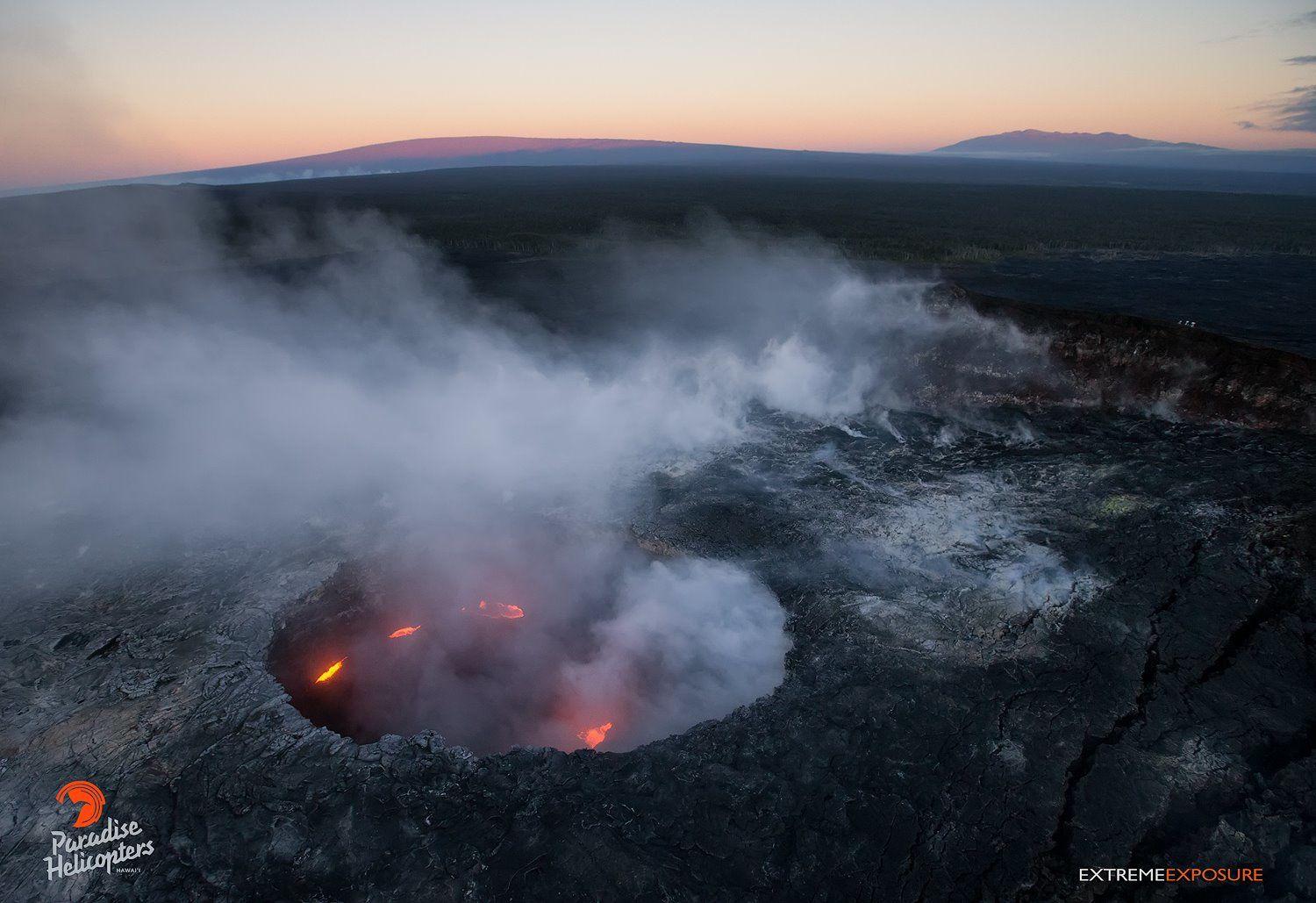 Pu'u O'o Crater - the active spattering 11.03.2016 / 6h - photo Extreme Exposure Fine Art Gallery