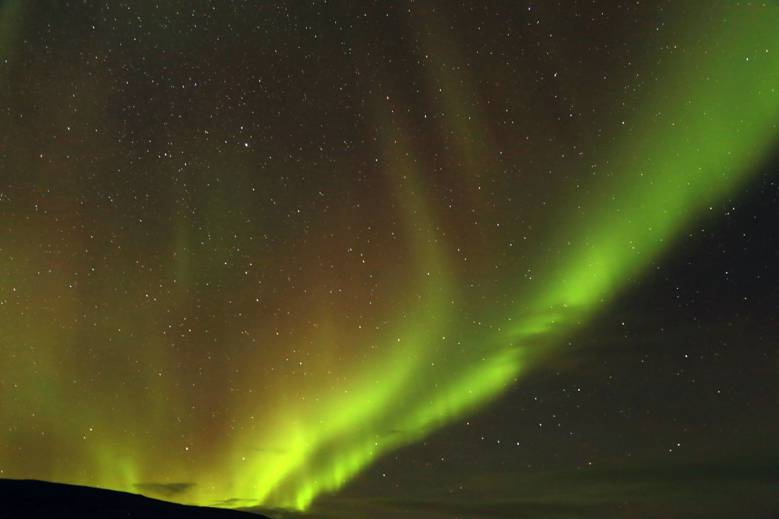 The Icelandic peninsulas of the northwest - aurora borealis - picture © Bernard Duyck 10.2016