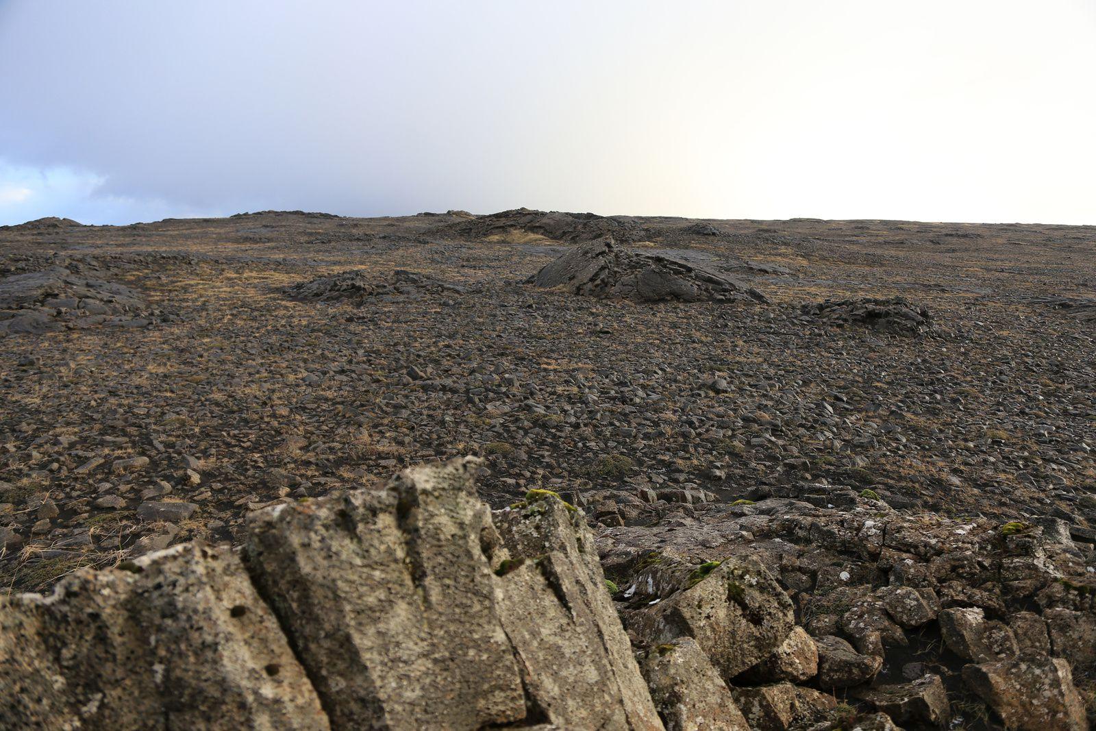 Le champ de lave Hafnaheiði au sud d'Hafnir - photo © Bernard Duyck 10.2016