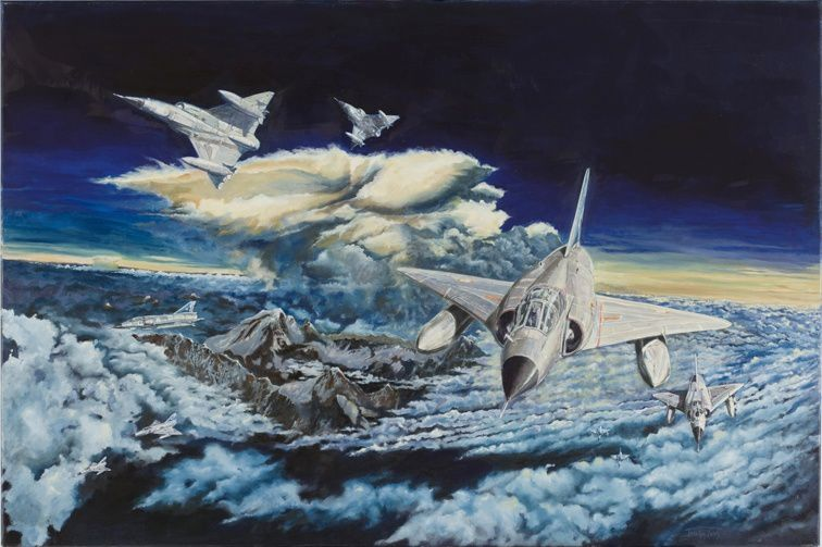 """""""Eruption ... of Mirages"""" - painting by Jocelyn Lardy."""