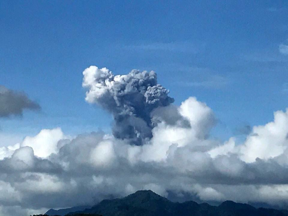 Bulusan - phreatic eruption of 29.12.2016 / 14h40 - photo ABS-CBN News