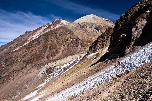 The summit area of Nevado Chachani - photo Summitpost
