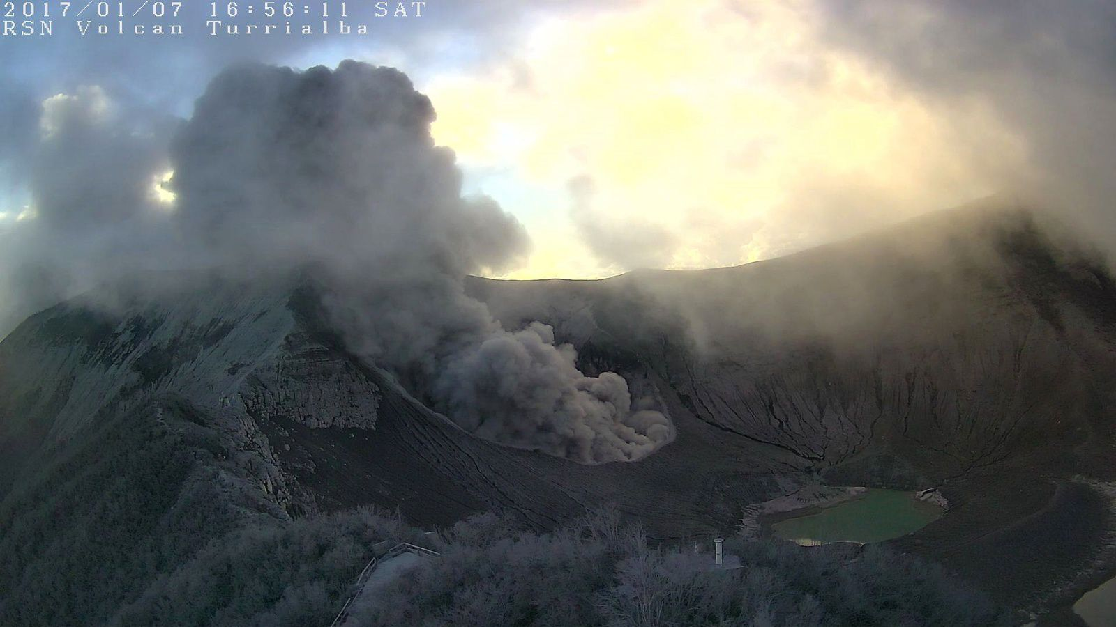 Turrialba - 07.01.2017 / 16h56 - webcam RSN