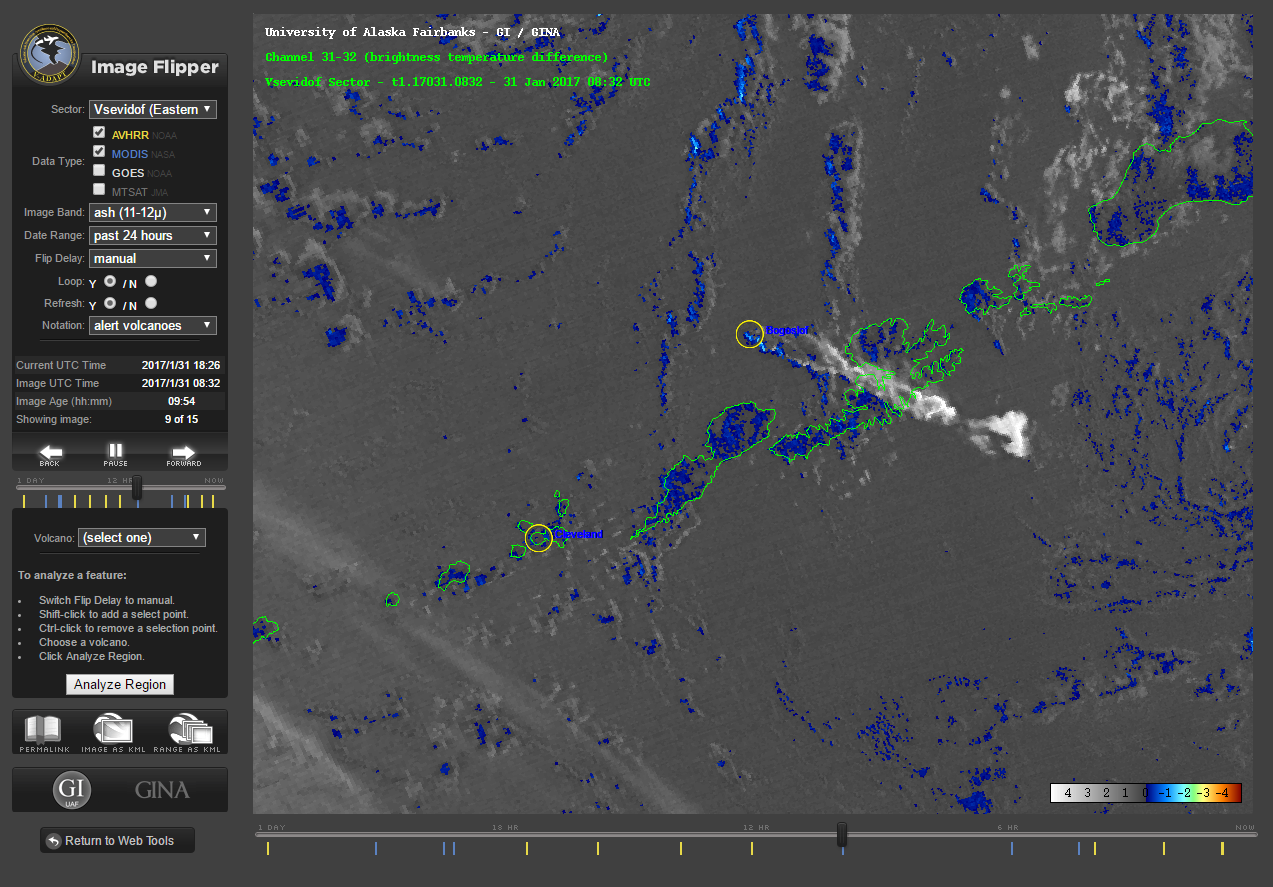Bogoslof - 31.01.2017 /  8h32 - image MODIS_Terra VADAPT_31m32 / via P.Webley