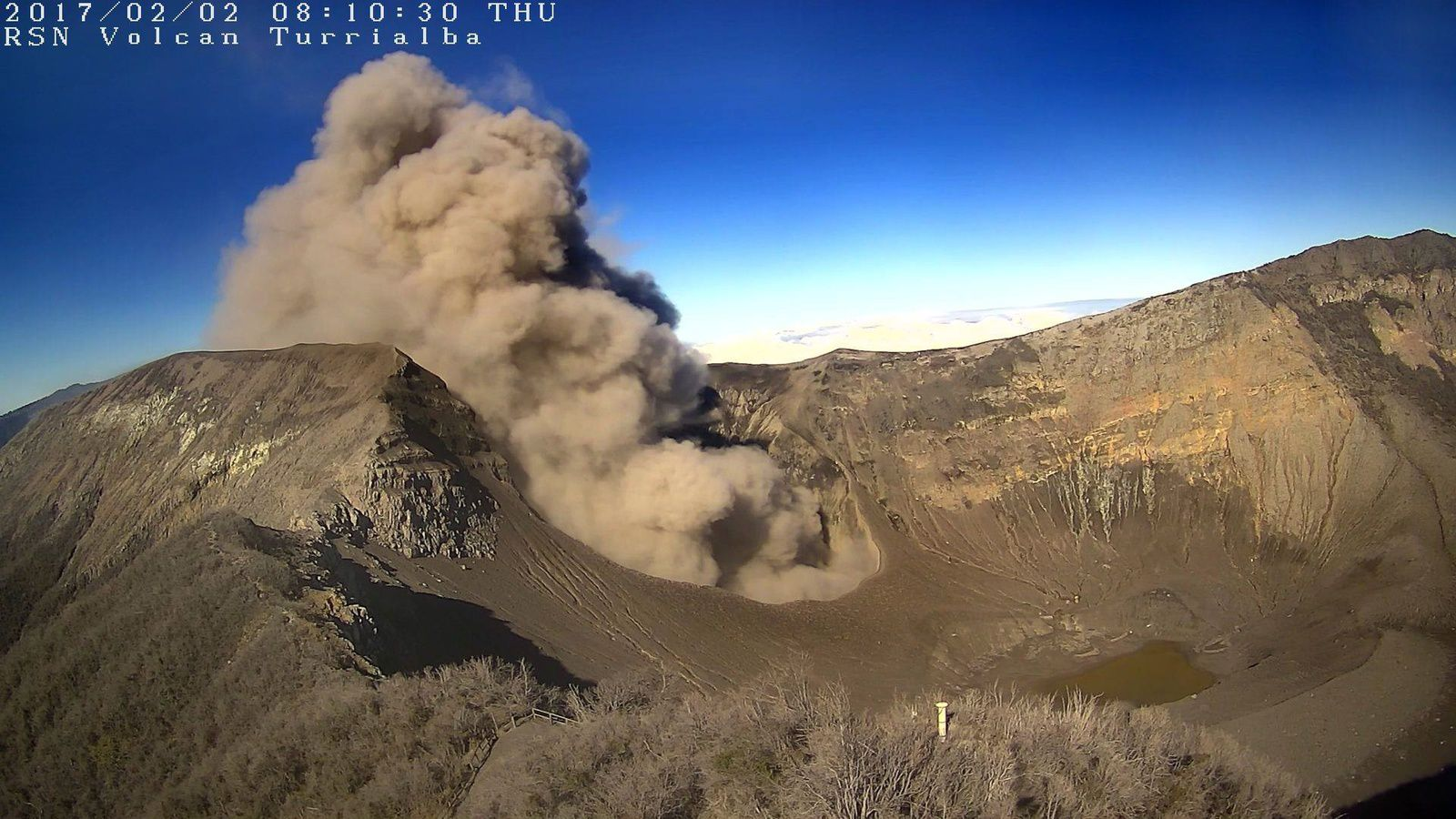 Turrialba - 02.02.2017 / 8h10 - webcam RSN