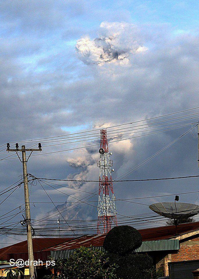 Sinabung - 07.02.2017 / 8h01 - photo Sadrah Peranginangin