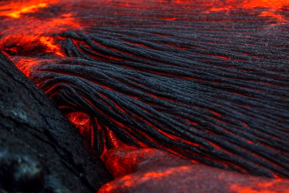 Kilauea / Pu'u O'o - champ de lave sur la plaine costale - photo Epic Lava 13.02.2017