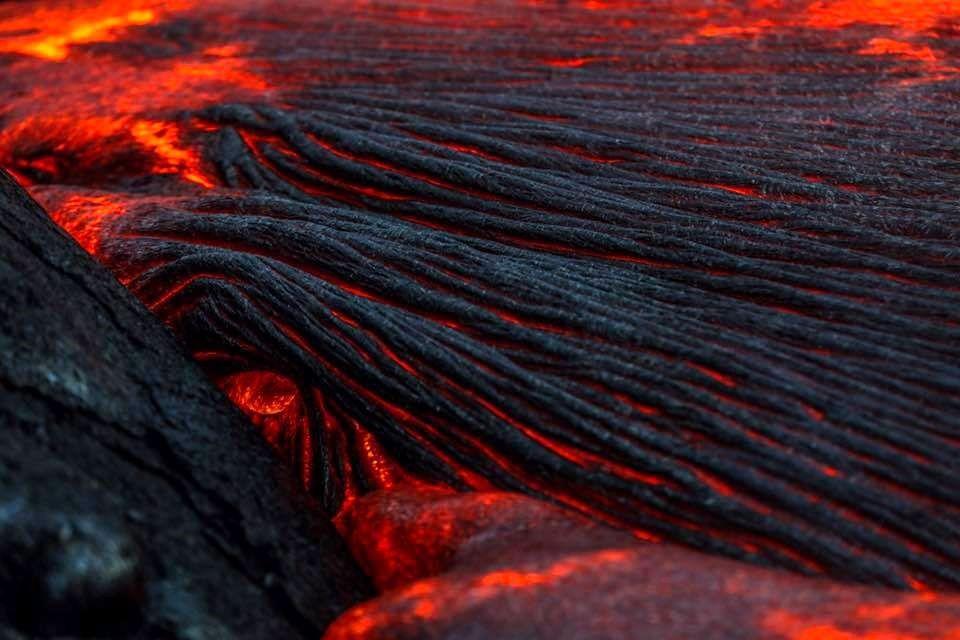 Kilauea / Pu'u O'o - lava field on the costal plain - photo Epic Lava 13.02.2017