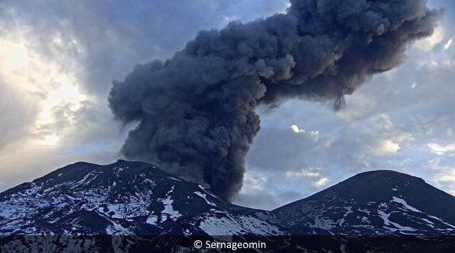 Explosion le 14.03.2017 au complexe Nevados de Chillan - photos Sernageomin
