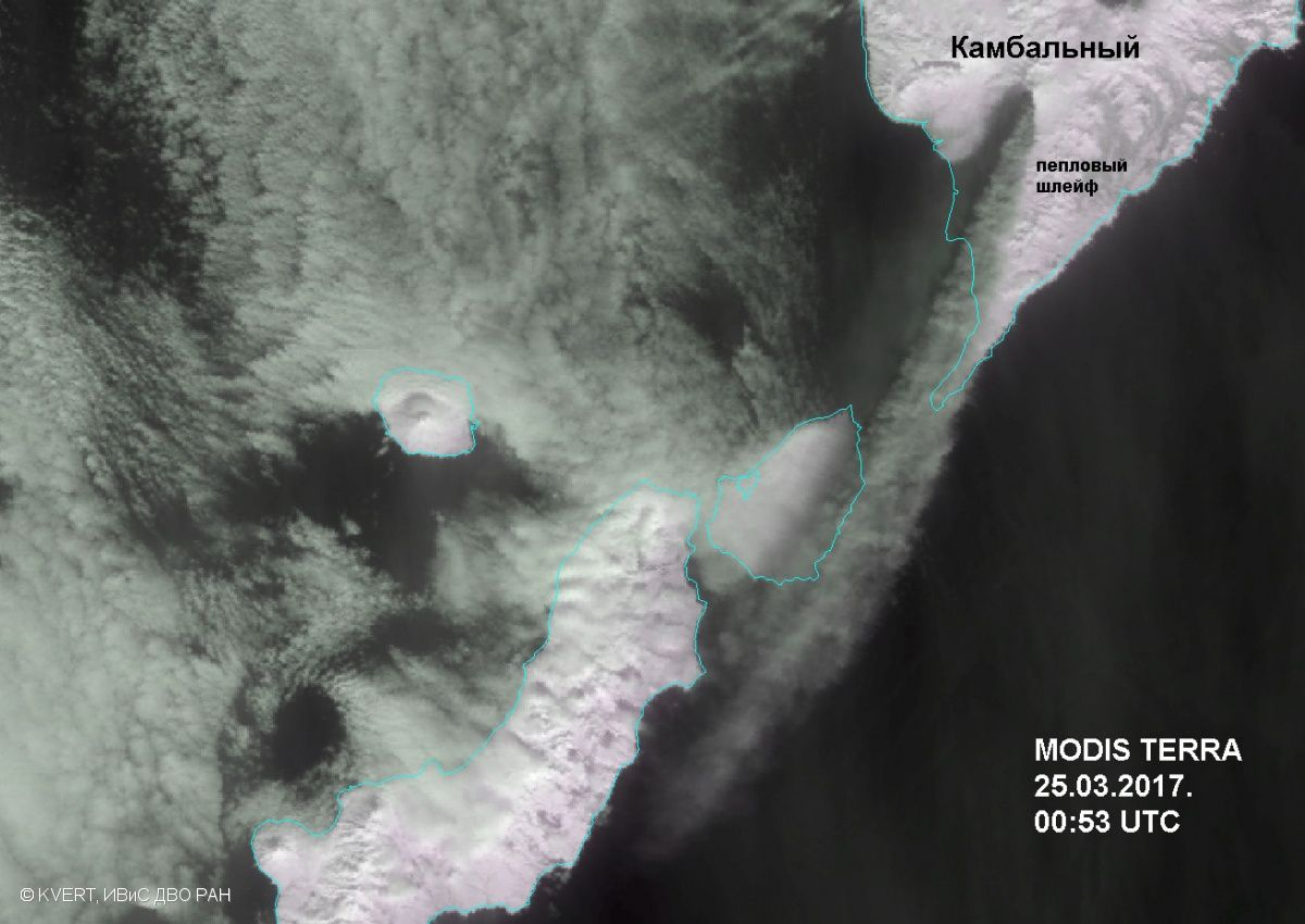 Kambalny - 25.03.2017 / 00h53 - picture Terra Modis / KVERT