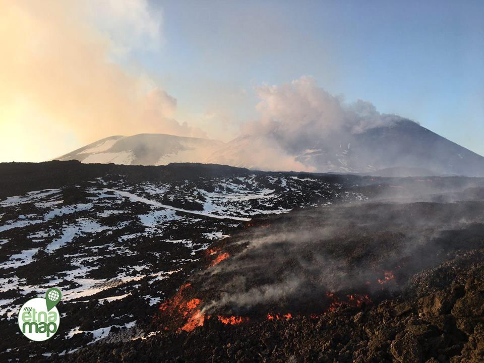 Etna - reprise de l'activité ce 10.04.2017 - photo My Etna Map